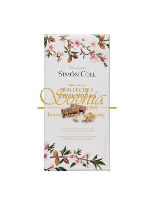 Simón Coll Mliečna čokoláda s celými mandľami