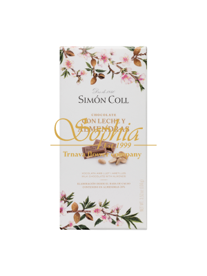Simón Coll 32% Milk chocolate with laminated almonds