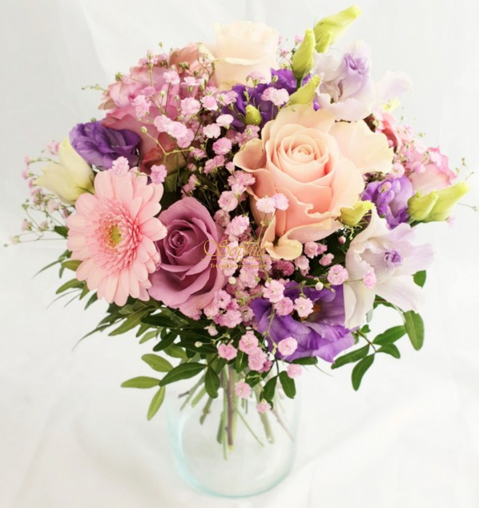 fb2b3af1f Kvetysophia - Ružová kytica - Kytice - Ružová kytica