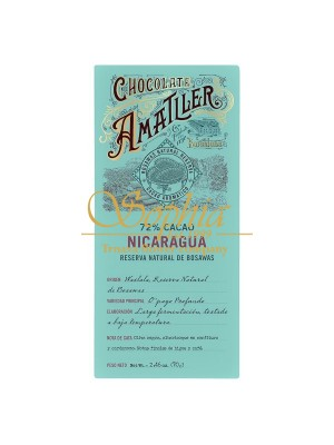 Amatller - Nicaragua 72% plantážna čokoláda